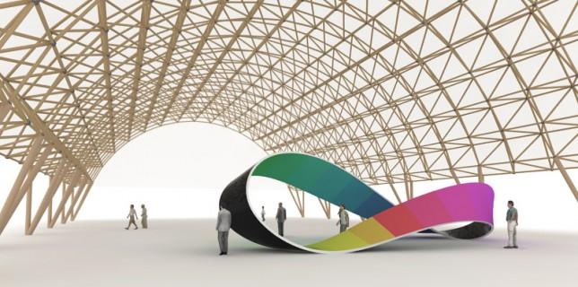 Möbius Band als Sinnbild eines unendlichen nichttrivialen Zirkels unter einer filigranen Konstruktion