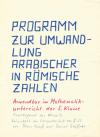 """Cover der Arbeit """"Programm zur Umwandlung arabischer in römische Zahlen"""""""