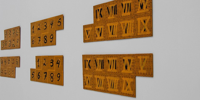 Roman and Arabic Numerals - Copyright  Maureen Barlin