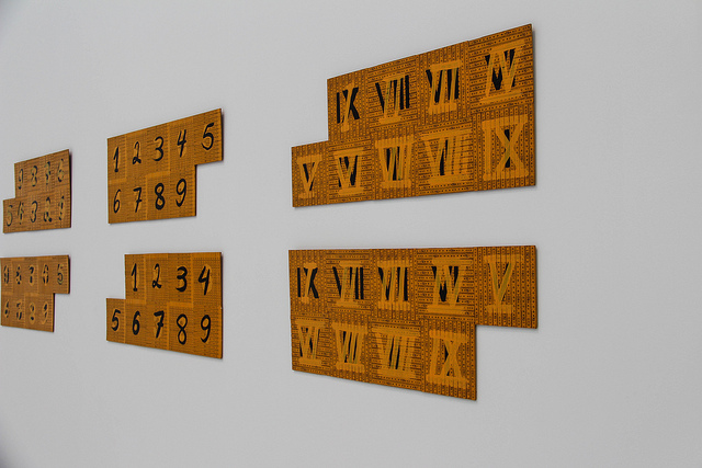 Roman and Arabic Numerals - Copyright Maureen Barlin